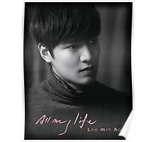 Lee Min Ho All My Life Poster