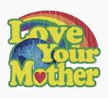 Love Your Mother (Vintage Distressed Design) Kids Clothes