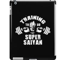 Training To Go Super Saiyan (Goku Squat) iPad Case/Skin