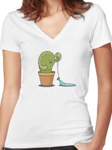Turns out they were a prick. Women's Fitted V-Neck T-Shirt