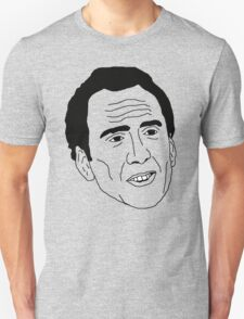 Badly Drawn Nic Cage Unisex T-Shirt