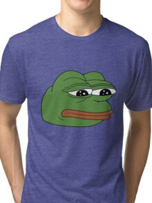 Pepe the Sad Frog Tri-blend T-Shirt