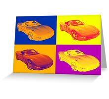 C5 Corvette convertible Muscle Car Pop Art Greeting Card