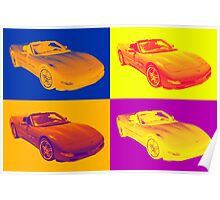 C5 Corvette convertible Muscle Car Pop Art Poster