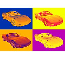 C5 Corvette convertible Muscle Car Pop Art Photographic Print