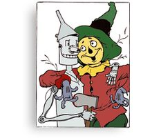 Scarecrow and Tinman Canvas Print