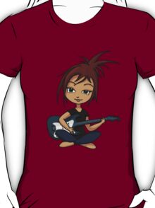 Guitar Chick (version 2) T-Shirt