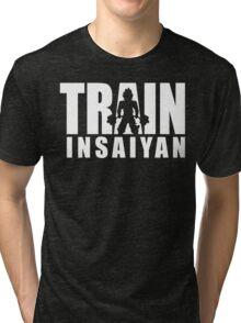 TRAIN INSAIYAN (Deadlift Iconic) Tri-blend T-Shirt