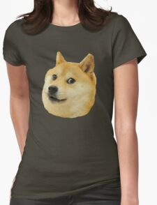 shibe doge face Womens Fitted T-Shirt