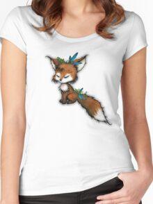 Spirit Fox - Totem Animal  Women's Fitted Scoop T-Shirt