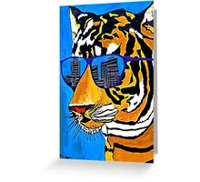 Cool Tiger in Sun Shades  Greeting Card