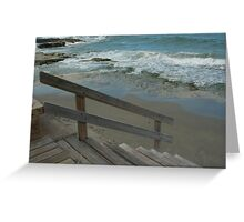 Downward Slope to the Sea Greeting Card