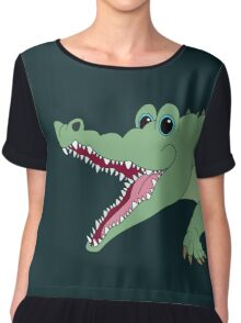 OH, WHAT A CROC! Chiffon Top