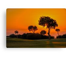 Sunset on the 9th fairway at Aphrodite Hills Canvas Print