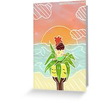 Pokémon Sun and Moon - Trainer and Exeggutor Greeting Card