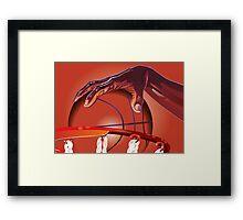 Basketball Slam Dunk Point Print  Framed Print
