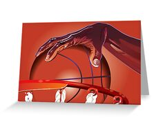 Basketball Slam Dunk Point Print  Greeting Card