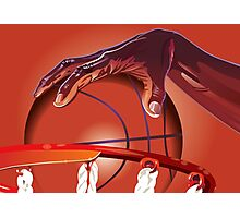 Basketball Slam Dunk Point Print  Photographic Print