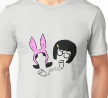 Tina And Louise Belcher Bobs Burgers Print Unisex T-Shirt