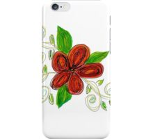 Green Moss And Rusty Reds iPhone Case/Skin