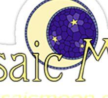 Mosaic Moon Yarn Logo. Sticker