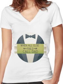 call dad Women's Fitted V-Neck T-Shirt