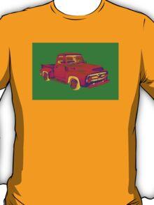 Classic 1955 F100 Ford Pickup Truck Pop Art T-Shirt