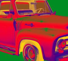 Classic 1955 F100 Ford Pickup Truck Pop Art Sticker