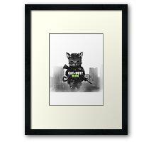 Cat of Duty M3w Framed Print