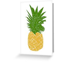 Pineapple Polygon Style Inspired by Psych Greeting Card