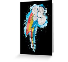 Rainbow Dash CM Splatter Greeting Card