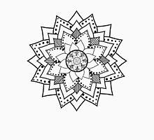 Mehndi / Henna style lotus flower blossom (black) T-Shirt