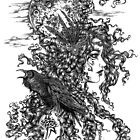 The Morrígan - Goddess with Raven by LKBurke29