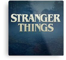 Stranger things Metal Print