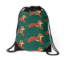Prismatic Fox Drawstring Bag