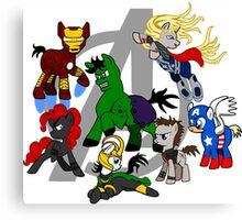 The Avengers Pony Club Canvas Print