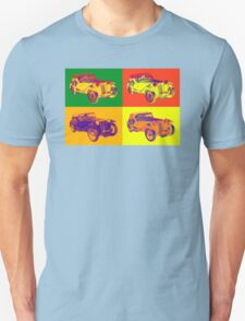 Colorful Mg Tc Antique Car Pop Art T-Shirt