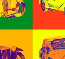 Colorful Mg Tc Antique Car Pop Art Sticker