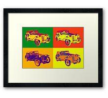 Colorful Mg Tc Antique Car Pop Art Framed Print