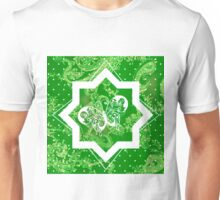Butterfly on Green Paisley Unisex T-Shirt