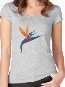 Crystal Bird of Paradise  Women's Fitted Scoop T-Shirt