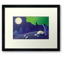 Pokemon Sleep Time - Munchlax and Snorlax Framed Print