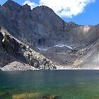 Chasm Lake, Rock Mountain National Park, Colorado, USA by Bernie Garland