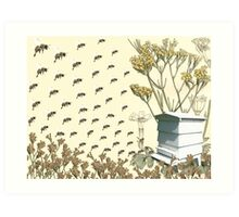 Bees to the Hive Art Print