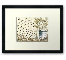 Bees to the Hive Framed Print