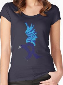 Typographic Ravenclaw Women's Fitted Scoop T-Shirt