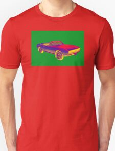 1967 Convertible Camaro Muscle Car Pop Art T-Shirt