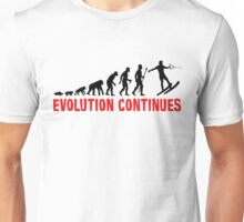 Funny Waterskiing Evolution Continues Unisex T-Shirt