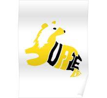 Typographic Hufflepuff Poster