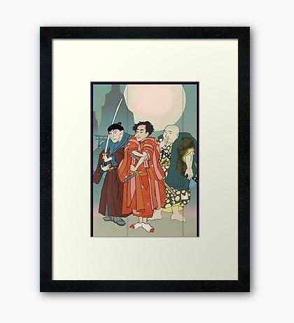 Three Samurai Framed Print